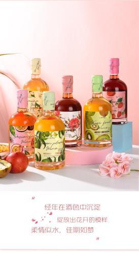 招商:有机-纯果酿果酒-奇异果,茉莉,青梅,百香果,玫瑰,草莓,375ml*6礼盒装(支持一件代发)
